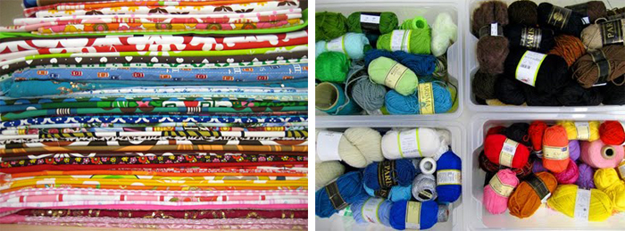 Fabric and yarn stash